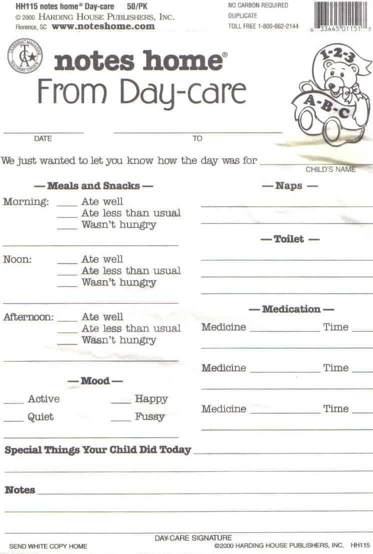Accomplished image in home daycare forms printable